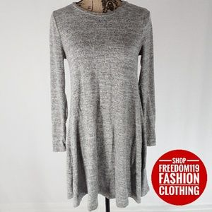 Cable & Gauge   French Terry Knit Dress (S)